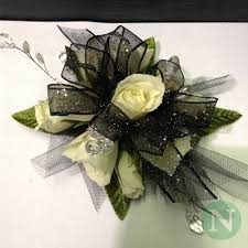 Black And White Corsage Corsage Nunan Florist U0026 Greenhouses