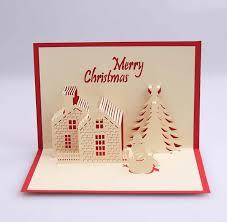 cheap photo christmas cards 3d greeting cards christmas handmade kirigami origami creative