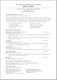 Examples Of Administrative Assistant Resume Cool Resume Sample Accountant And Free Templates Accounts