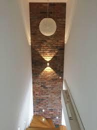 wandgestaltung treppenaufgang kunststeinpaneele bronx für eine wandgestaltung in ziegelstein optik