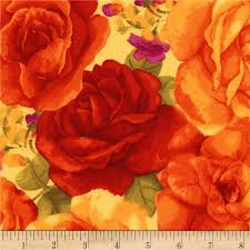 timeless treasures rosa roses from fabricdotcom designed by chong