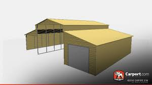 open style boxed eave metal barn 36 u0027 x 21 u0027 x 12 u0027 metal barns info