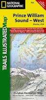 Iditarod Map Prince William Sound West National Geographic Trails Illustrated