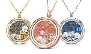 floating locket necklace images Floating charm necklace groupon jpg