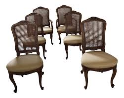 henredon french provincial cane back dining chairs 6 chairish