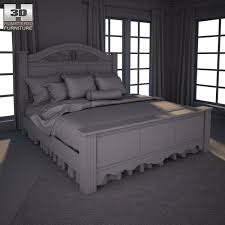 Black Poster Bed Ashley Constellations King Poster Bed 3d Model Cgtrader