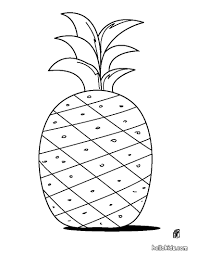 pineapple coloring pages hellokids com