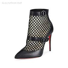 womens booties ankle boots canada outlet christian louboutin boteboot leather mesh