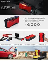 amazon com dbpower 600a peak 18000mah portable car jump starter