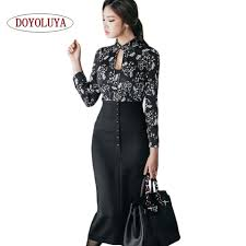 Black Blouses For Work Online Get Cheap Blouse And Long Skirt For Work Aliexpress Com