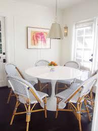 furniture bright white breakfast nook design idea with round oak