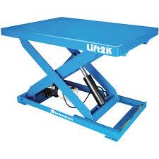 bishamon industries electric hydraulic lift table u2014 28in x 48in