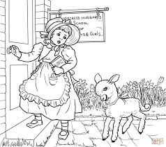 coloring download mary had a little lamb coloring page printable