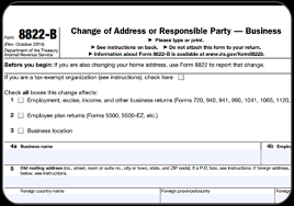 what is irs form 8822 b