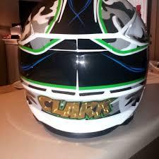 custom motocross helmet wraps just got my new helmet wrap moto related motocross forums