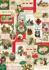 cat christmas wrapping paper cavallini co christmas cats decorative wrapping