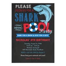 shark birthday invitations u0026 announcements zazzle canada