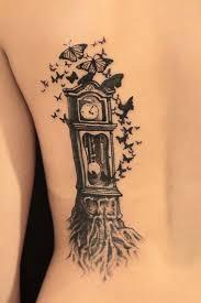 fairytale clock and butterflies tattoomagz