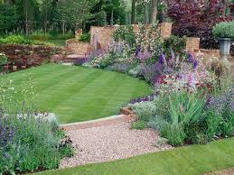 Landscaping Ideas For A Sloped Backyard by Garden Ideas For Sloping Backyards Backyard Fence Ideas