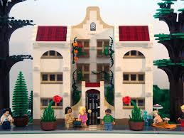 lego modular building style moc spanish revival apartments