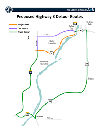 Mn Dot Traffic Map Highway 8 Detour In Taylors Falls St Croix Valley
