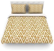 amanda lane geo tribal mustard yellow aztec duvet cover intended