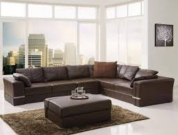 Sofa Sectional Leather Contemporary Leather Sofa Sectional Modern Within Brown Designs 10