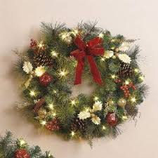 pre lit wreath gift ideas and decorations
