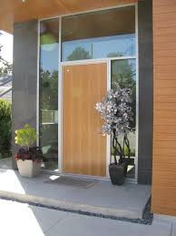 beautiful and welcoming front doors with canadian flair