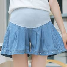 maternity shorts buy wholesale summer cotton maternity shorts denim blue beaded