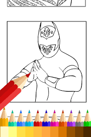 coloring book wwe fans android apps google play