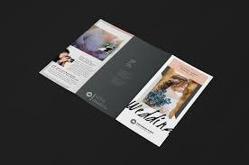 wedding photographer trifold brochure template v3 brandpacks