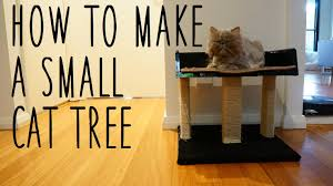 cat furniture diy small cat tree youtube