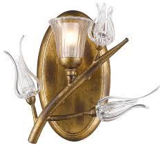Gold Bathroom Vanity Lights Aiyana 1 Light Bathroom Vanity Light Gold Leaf Traditional