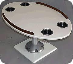 boat tables for cockpit oval polyethylene cockpit pedestal table with edge rails