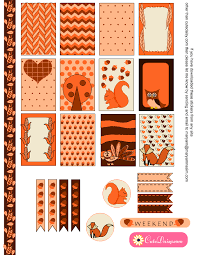 thanksgiving stickers for happy planner and ec free planner