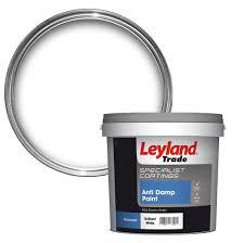 leyland trade white anti damp paint 5l departments diy at b u0026q