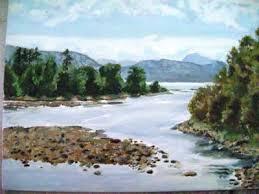 india artist smita landscape oil paintings