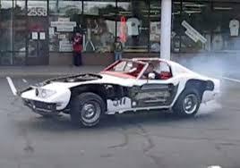 smoky donuts in a cutaway c3 corvette corvette