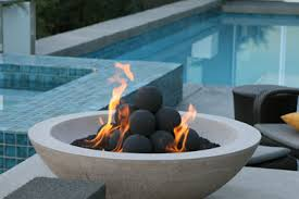 Ceramic Firepit Custom Pit Conversion To Fireglass Exsisting Pit