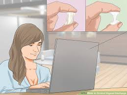 how to control vaginal discharge 10 steps with pictures