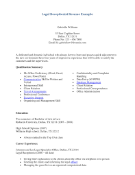 Sample Of A Receptionist Resume by For Receptionist Thebridgesummit Co