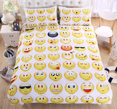 emoji bedding set interesting and fashion duvet cover for young