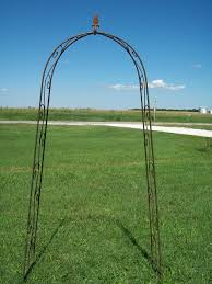wrought iron narrow arch for sale garden trellis