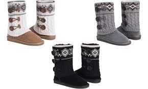 groupon s boots 54 on muk luks s cheryl boots groupon goods