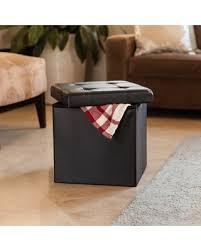 Black Storage Ottoman Amazing Deal Danya B Folding Storage Ottoman With Buttons Black