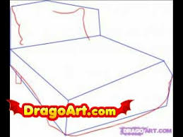 How To Draw A Bed How To Draw A Bed Step By Step Youtube