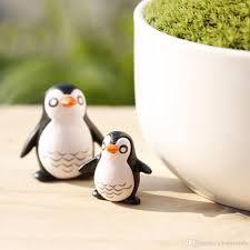 2017 cute penguin fairy garden gnome animals moss terrarium home