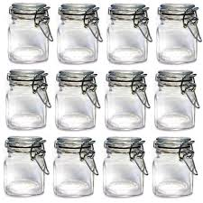 popular glass jar sets buy cheap glass jar sets lots from china set of 12pcs mini glass clip top spice storage jars usd33 00 for 12pcs