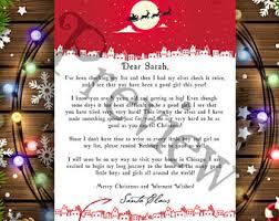 letter from santa santa letter gift from santa christmas
